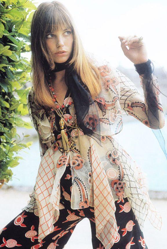 1970s Fashion Icon - Jane Birkin French Vogue heelsandpeplum