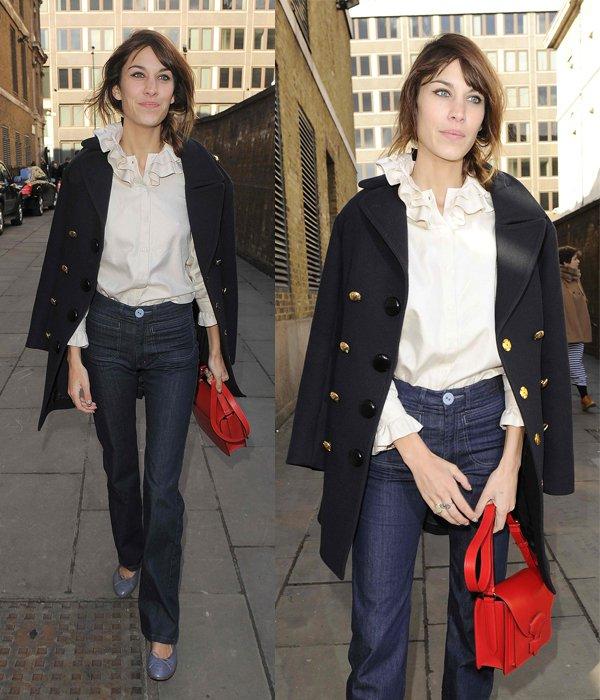 Alexa-Chung flare jeans