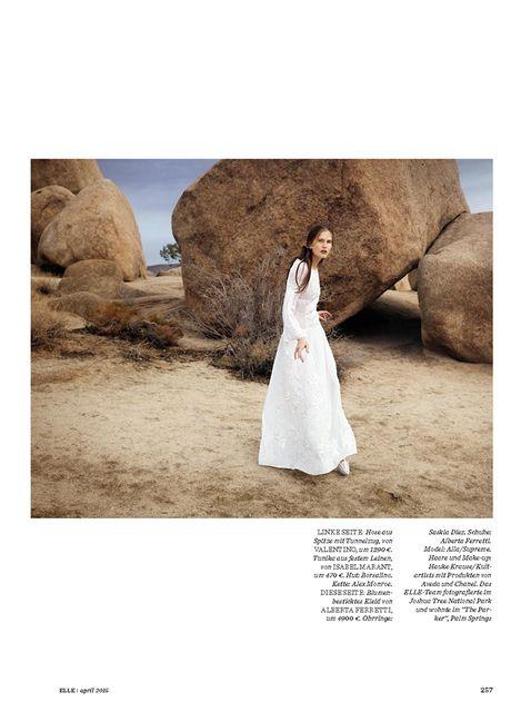 Alla Kostromichova by Gregor Hohenberg for Elle Germany April 2015_4