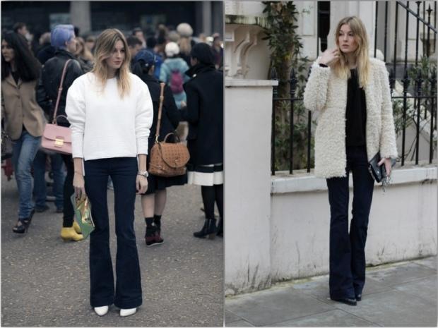 Camille over the Rainbow streetstyle flare jeans heelsandpeplum