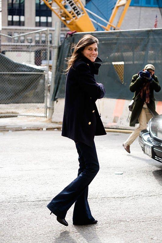 Emanuelle Alt flare jeans trend streetstyle heelsandpeplum 2