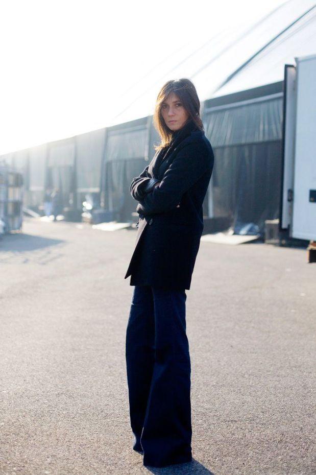 Emanuelle Alt flare jeans trend streetstyle heelsandpeplum