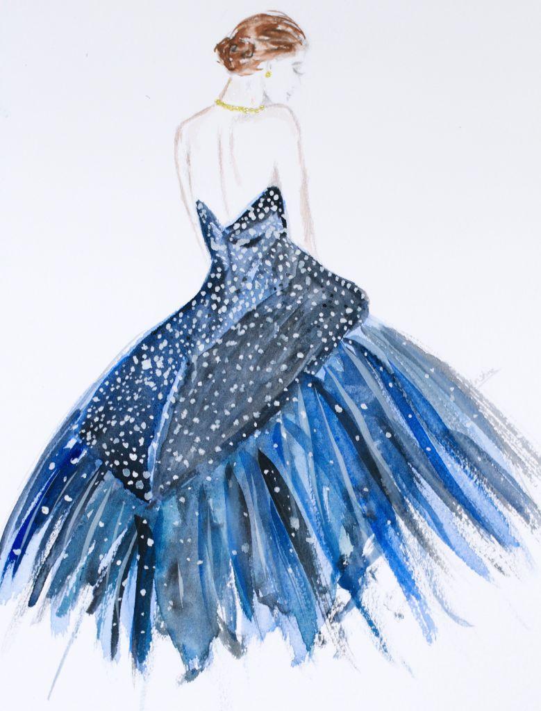 fashion illustration heelsandpeplum zac posen nigh gown