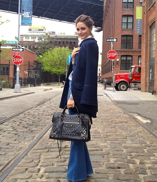Olivia Palermo flare jeans trend streetstyle heelsandpeplum