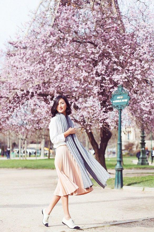 street style pleated skirt gary pepper paris elegance sophistication heelsandpeplum blog