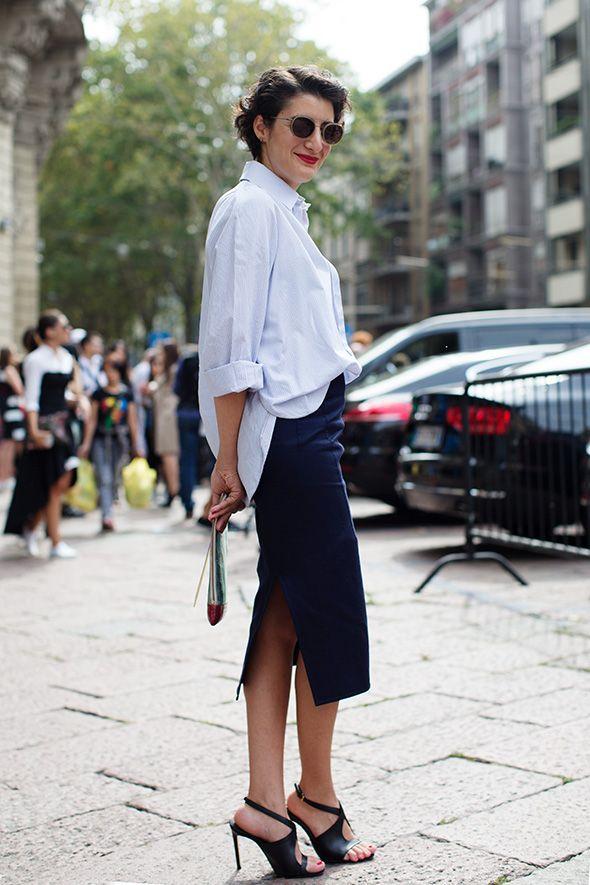 streetstyle blue shirt heelsandpeplum ways to wear 10