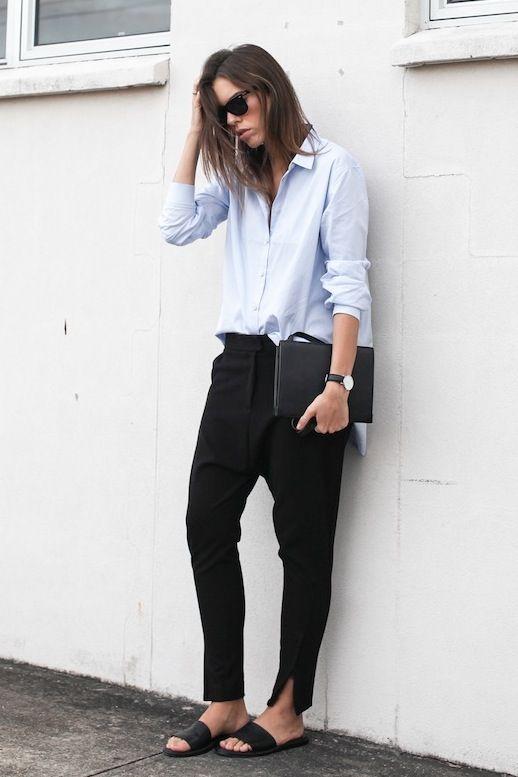 streetstyle blue shirt heelsandpeplum ways to wear 7