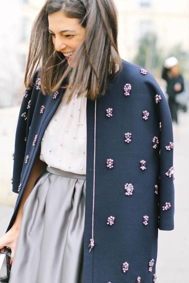 streetstyle elegance sophistication heelsandpeplum blog jewelled coat