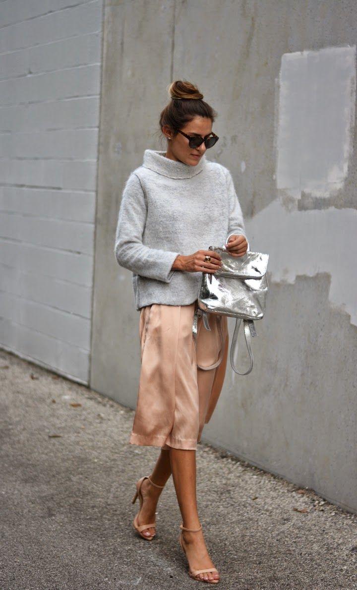 streetstyle elegance sophistication heelsandpeplum blog midi silk skirt