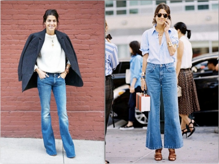 The Man Repeller flare jeans streetstyle