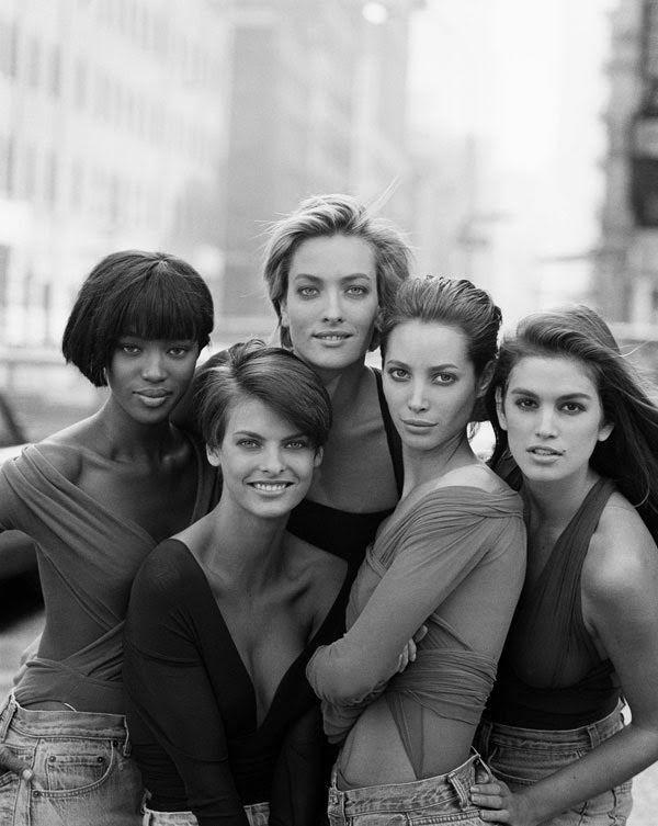 90s models Vogue 1989