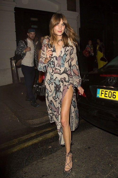 alexa chung heelsandpeplum bohemian dress streetstyle fashion