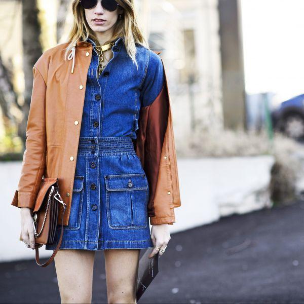 streetstyle trend button front skirt heelsandpeplum