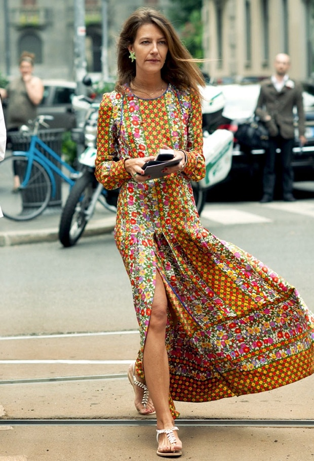 heelsandpeplum bohemian dress streetstyle fashion printed