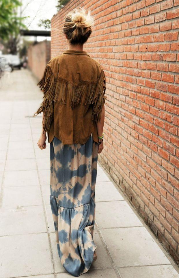 heelsandpeplum bohemian dress streetstyle fashion suede
