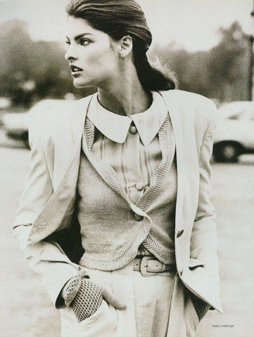 Linda Evangelista 1987 Peter Lindbergh Vogue UK