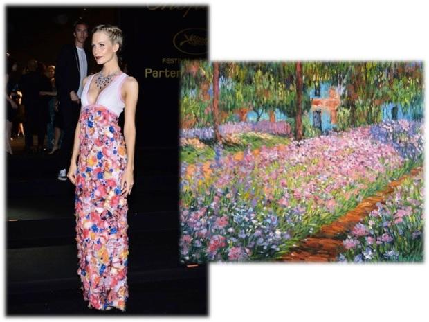 poppy_delevingne_chanel_cannes_heelsandpeplum_impresionism_monet_paint